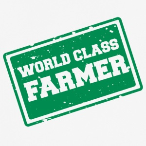 Farmer / bonde / Farmer: World Class Farmer - Pustende T-skjorte for menn