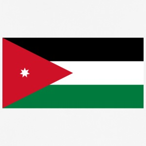 National Flag Of Jordan - Pustende T-skjorte for menn