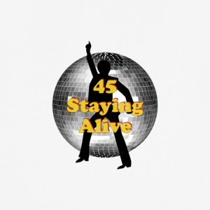 staying alive logo - Men's Breathable T-Shirt
