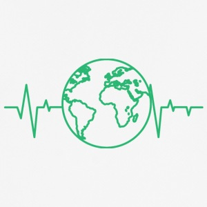 Earth Day / Earth Day: heart rate of the earth - Men's Breathable T-Shirt