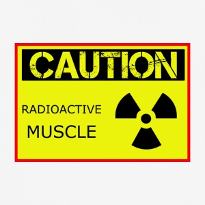 Caution Radioactive Muscle - mannen T-shirt ademend