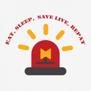 Fire Department: Äta, sova, Save Live, Repeat - Andningsaktiv T-shirt herr