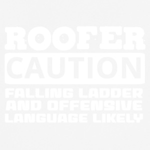 Dachdecker: Roofer. Caution. Falling Ladder And - Männer T-Shirt atmungsaktiv