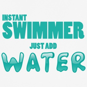 Zwemmen / float: Instant Swimmer - Just Add - mannen T-shirt ademend