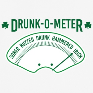 Ireland / St. Patrick's Day: Drunk-O-Meter - Sober, - Men's Breathable T-Shirt
