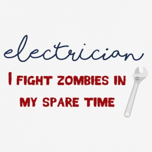 Elektriker: Electrician - I fight zombies in my sp - Männer T-Shirt atmungsaktiv