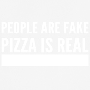 people are fake pizza is real - Männer T-Shirt atmungsaktiv