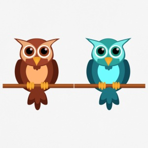 Two owls - Men's Breathable T-Shirt
