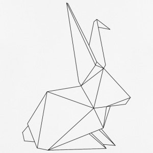 origami Hase - mannen T-shirt ademend