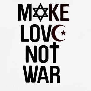 Make Love Not War - mannen T-shirt ademend