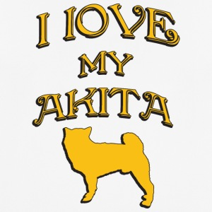 I love my dog AKITA - Men's Breathable T-Shirt