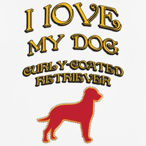 I LOVE MY DOG Curly Coated Retriever - Men's Breathable T-Shirt