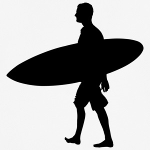 Man Surf Board - Herre T-shirt svedtransporterende