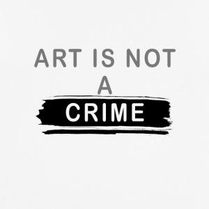 Art is not a crime (brush) - Men's Breathable T-Shirt