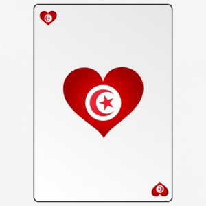 Playing Card Tunisia Heart Ass Heart - Men's Breathable T-Shirt