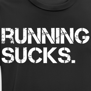 Running Sucks. - mannen T-shirt ademend