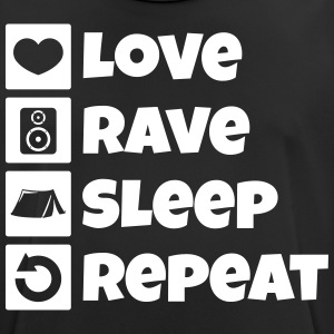 Love rave sleep repeat festival - Men's Breathable T-Shirt