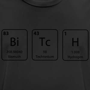 bitch nerdy periodic table element - mannen T-shirt ademend