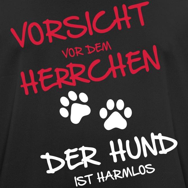 Vorschau: Vorsicht Herrchen - Männer T-Shirt atmungsaktiv