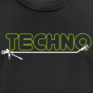 techno turntsble - Herre T-shirt svedtransporterende