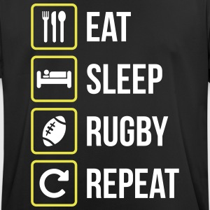 Eat Sleep Rugby Repeat - Andningsaktiv T-shirt herr