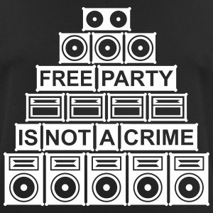 FREE PARTY IS GEEN MISDAAD - SOUND SYSTEM 2014 - mannen T-shirt ademend