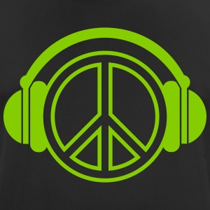 peace - headphones - music - Männer T-Shirt atmungsaktiv