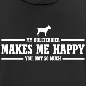 BULLTERRIER makes me happy - Men's Breathable T-Shirt