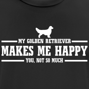 GOLDEN RETRIEVER makes me happy - Men's Breathable T-Shirt