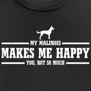 MALINOIS makes me happy - Men's Breathable T-Shirt
