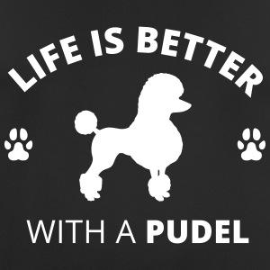 Pudel - Life Is Better With A Pudel - Männer T-Shirt atmungsaktiv