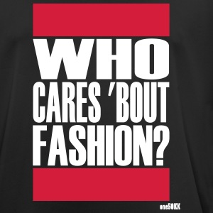 Who cares bout mode - mannen T-shirt ademend