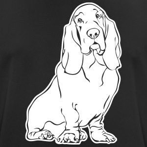 BASSET HOUND sitting - Men's Breathable T-Shirt