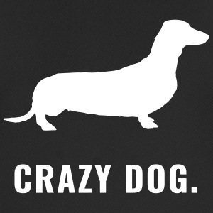 Dackel - Crazy Dog - Männer T-Shirt atmungsaktiv