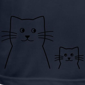 Cat mama / dad with child - Men's Breathable T-Shirt