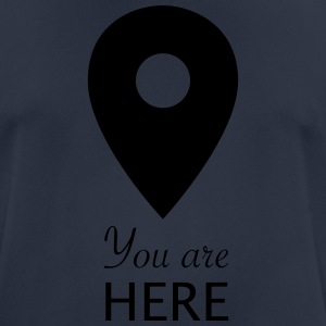 youarehere - T-shirt respirant Homme
