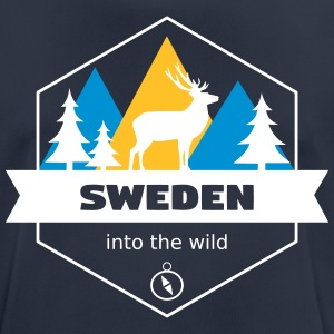 Sverige Into the Wild - Andningsaktiv T-shirt herr