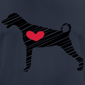 Doberman Heart Art - Men's Breathable T-Shirt