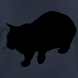 Vector Cat Silhouette - Pustende T-skjorte for menn