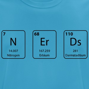 nerds periodic table element - mannen T-shirt ademend