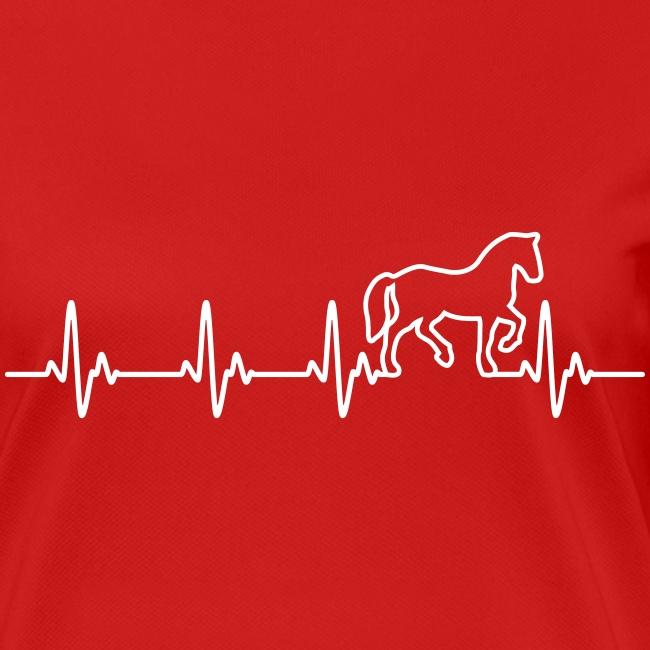 Vorschau: Horse Heartbeat - Frauen T-Shirt atmungsaktiv
