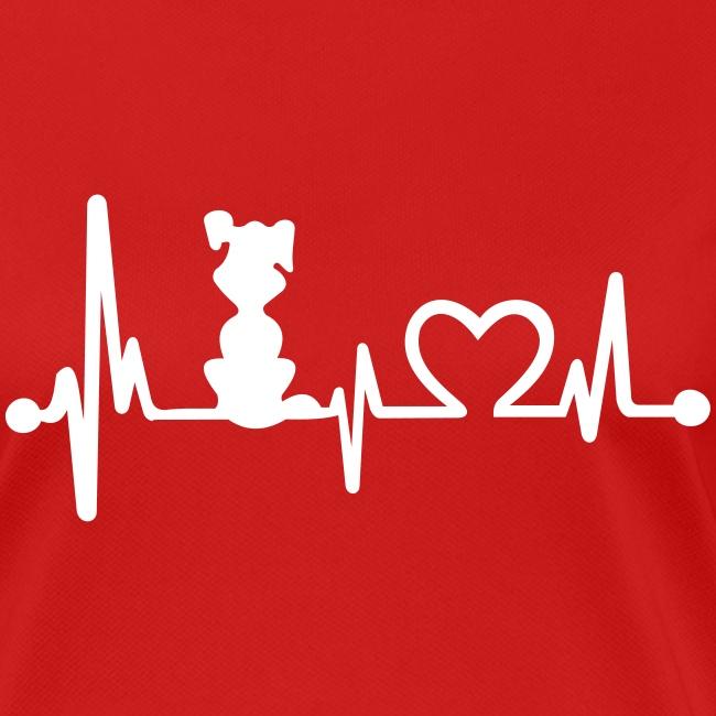 Vorschau: dog heart beat - Frauen T-Shirt atmungsaktiv