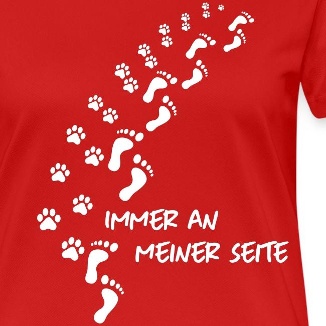 Vorschau: Immer an meiner Seite - Mein Hund und Ich - Frauen T-Shirt atmungsaktiv