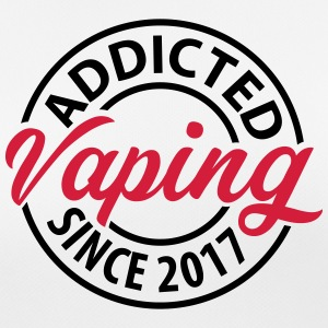 Vaping - Addicted siden 2017 - Pustende T-skjorte for kvinner