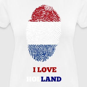 I LOVE HOLLAND T-SHIRT FINGERABDRUCK - Frauen T-Shirt atmungsaktiv