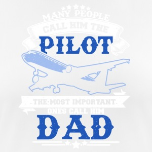 Father as a pilot cool sayings - Women's Breathable T-Shirt