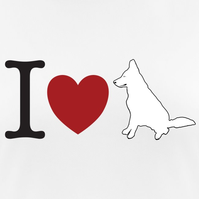 I LOVE White Dog