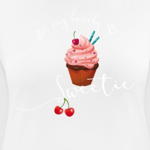 sweetie sweet cupcake muffin love cherry pink LOL - Women's Breathable T-Shirt