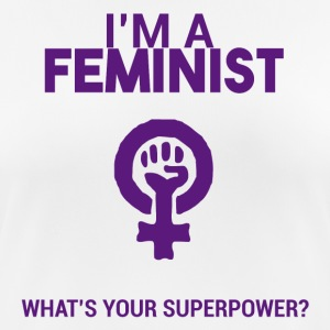 Soy feminista, ¿cuál es tu superpoder? - Camiseta mujer transpirable