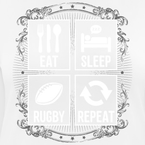 EAT SLEEP RUGBY REPEAT - Frauen T-Shirt atmungsaktiv